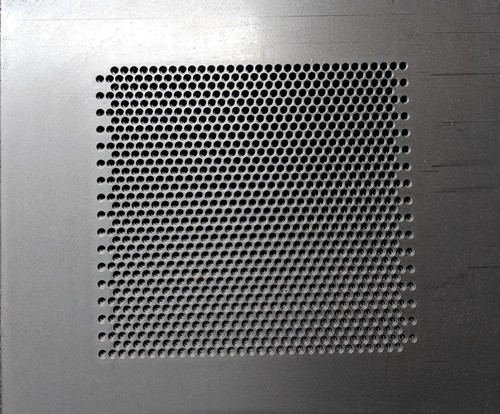 Perforated Metal with Circle Staggered Pattern - 60 Degrees