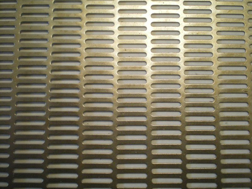 Perforated Metal With Oblong Holes - Ends Staggered