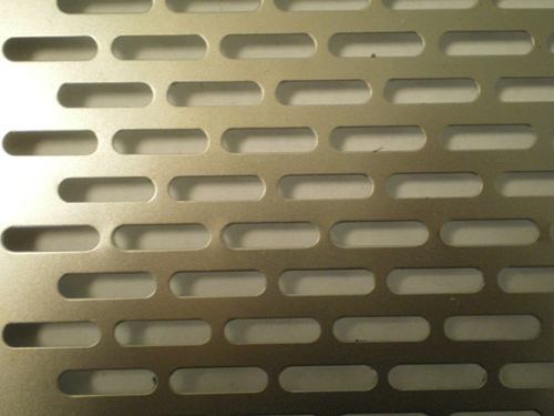Perforated Metal with Oblong Holes - Side Staggered 27