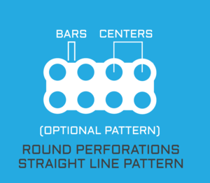 Perforated Metals With Round Holes Up To 36 Inches Wide Stright Pattern