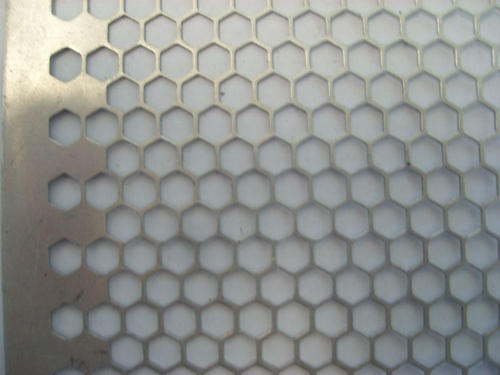 Clark Perforating - Perforated Metals Hexagonal Holes staggered